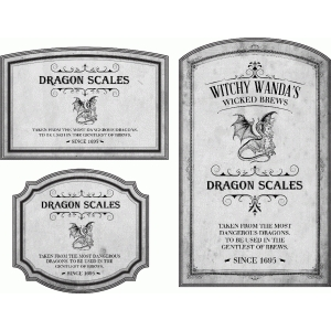 potion label dragon scales