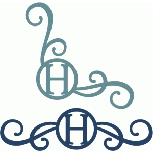 monogram seal flourishes h