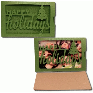 happy holidays photo sleeve