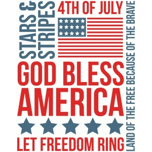 america sampler 3x4 quote card