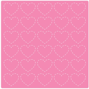 stitched hearts background / page mat