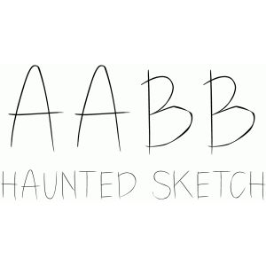 haunted sketch font
