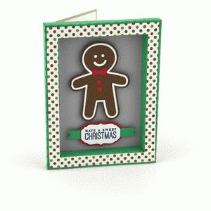 3d frame card gingerbread cookie