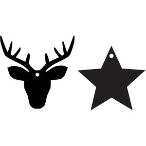 stag & star ornaments