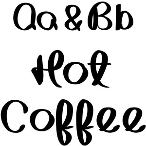 hot coffee font
