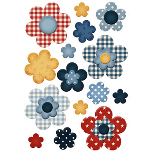4th of july flower planner stickers