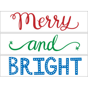 merry and bright lightbox words