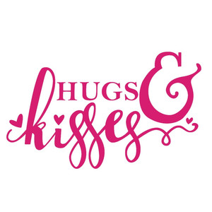 hugs & kisses phrase