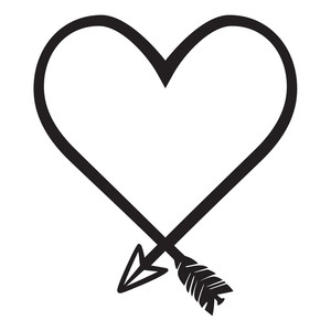 heart shaped arrow