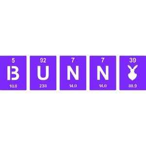 periodic table bunny