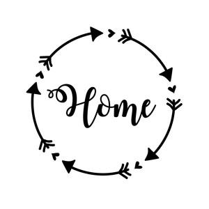 Silhouette Design Store - View Design #198466: home arrow ...