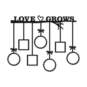 'love grows' wall art frames