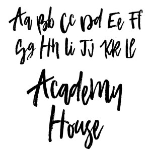 academy house font