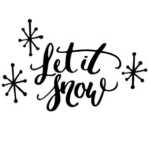 let it snow christmas phrase