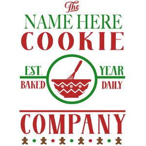 custom cookie company sign