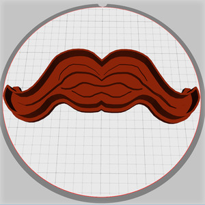 moustache dough cutter