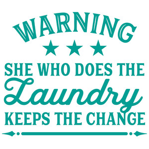laundry warning sign