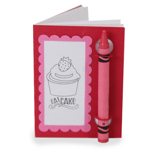 color and sketch book - cupcake