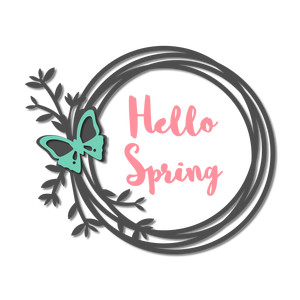 'hello spring' butterfly wreath