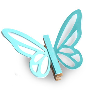 clothes pin coloring cute butterfly