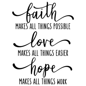 faith makes all things possible phrase