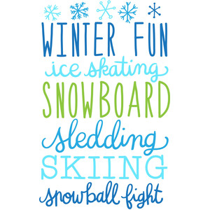 winter fun list