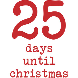 25 days until christmas