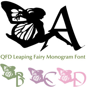 qfd leaping fairy monogram font