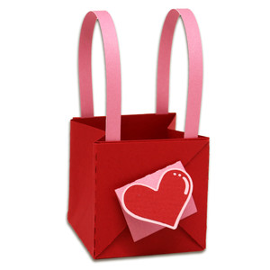 handled valentine bag