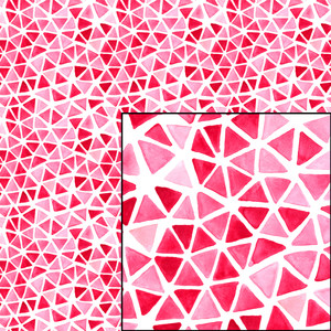 pink geometric watercolor seamless pattern