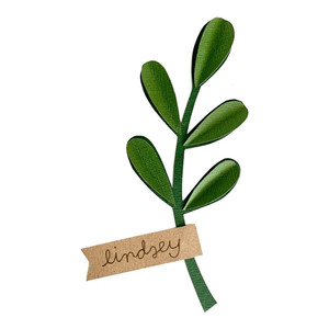 sprig place card