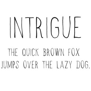 cg intrigue font