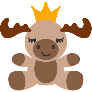 moose and crown