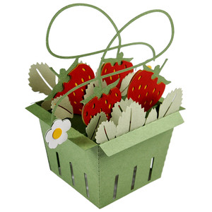 strawberry basket card in a box