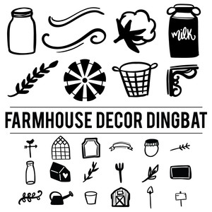 farmhouse decor dingbat font