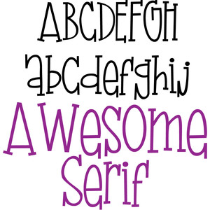 zp awesome serif