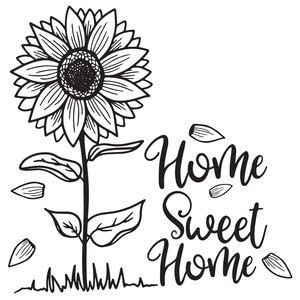 home sweet home sunflower