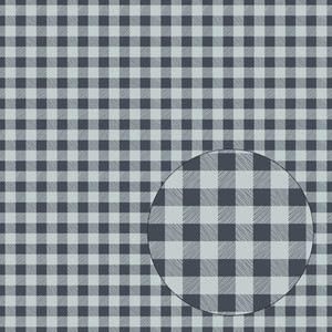 blue buffalo plaid seamless pattern