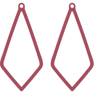 open geometric earrings