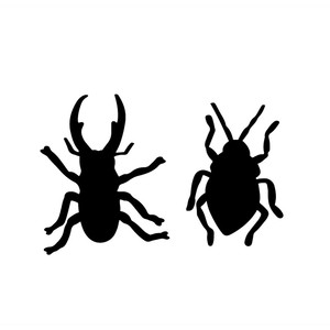 halloween bug silhouettes (stag beetle and bug)