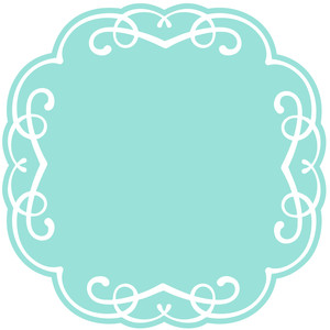 square flourish frame