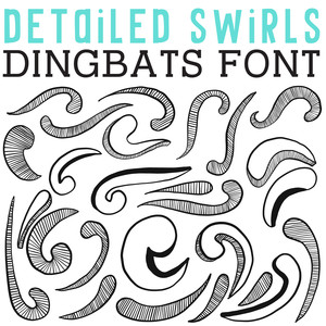 cg detailed swirls dingbats