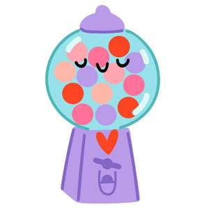 kawaii gumball machine