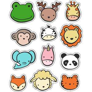 ml wild animal head stickers