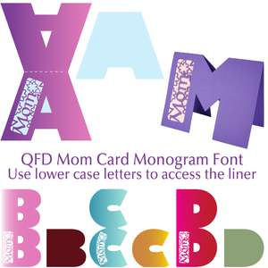 qfd mom card monogram font