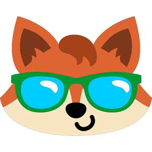 fox with sunglasses