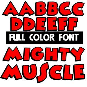 mighty muscle color font