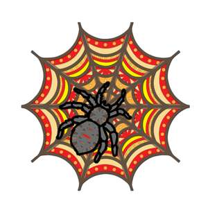 3d spiderweb halloween multi layer mandala