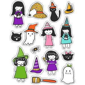 ml little witches stickers
