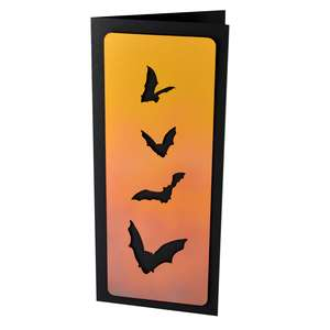 halloween bats slim stencil card